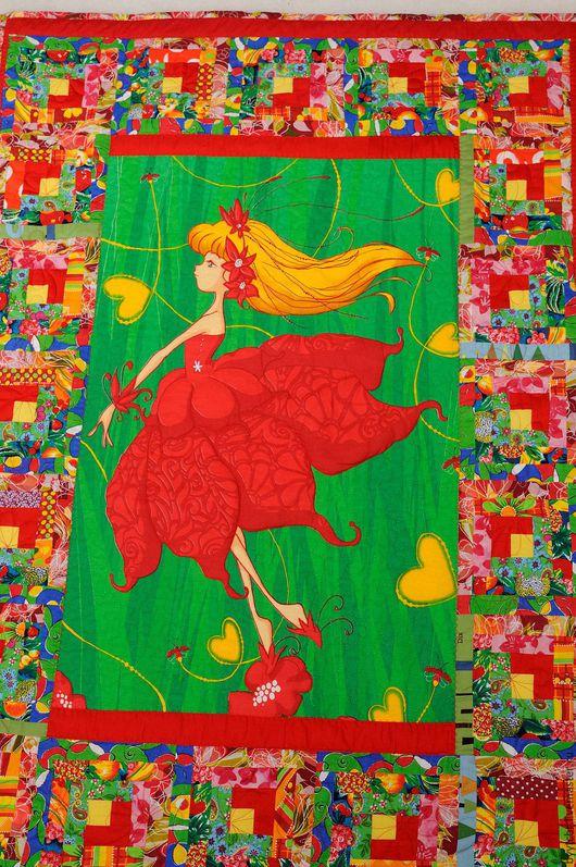 Пледы и одеяла ручной работы. Ярмарка Мастеров - ручная работа. Купить ЦВЕТОЧНАЯ ФЕЕЧКА Детское лоскутное одеяло, подарок детское одеяло. Handmade.