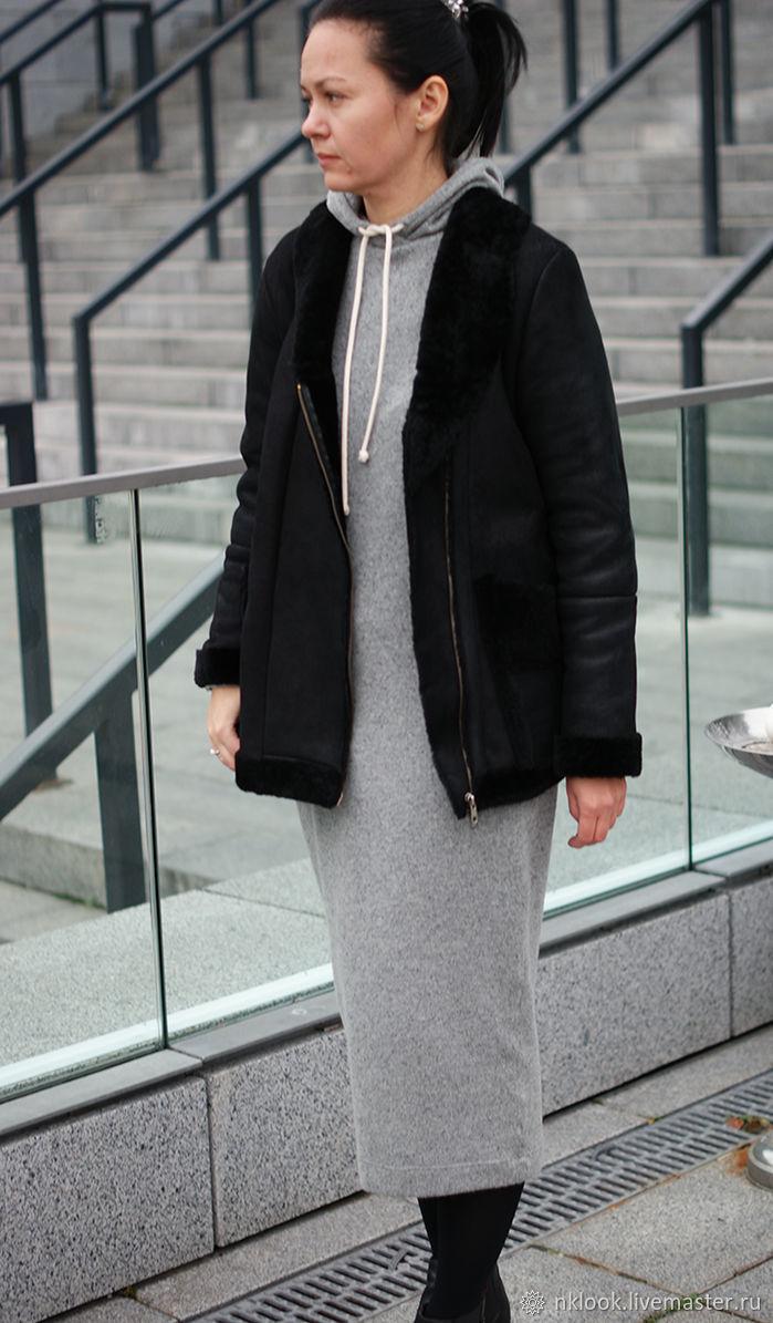 Дубленка женская из натуральной овчины, Верхняя одежда, Киев, Фото №1