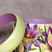 """Украшения ручной работы. Ярмарка Мастеров - ручная работа Комплект браслетов """"Крокус шафрановый"""". Handmade."""