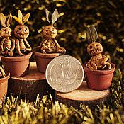 Куклы и игрушки ручной работы. Ярмарка Мастеров - ручная работа Мандрагоры в горшочках - миниатюра. Handmade.
