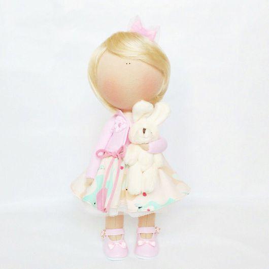"""Коллекционные куклы ручной работы. Ярмарка Мастеров - ручная работа. Купить Текстильная куколка """"Малышка"""". Handmade. Комбинированный, текстильная кукла"""
