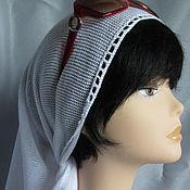 Аксессуары handmade. Livemaster - original item Knitted scarf ,bandana ,Bacchus . Summer scarf cotton. Handmade.