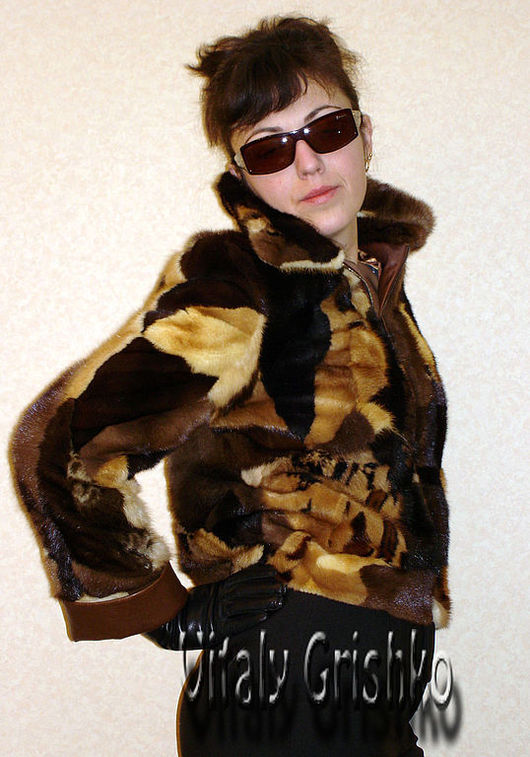"""Верхняя одежда ручной работы. Ярмарка Мастеров - ручная работа. Купить Авторская куртка """"Мозаика"""". Handmade. Куртка меховая, шубка"""