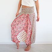 Одежда handmade. Livemaster - original item Wide womens trousers Afghani yoga pants. Handmade.