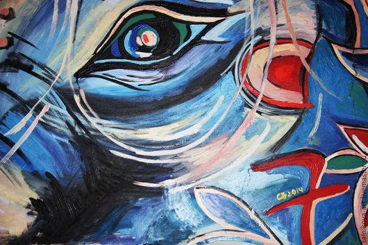 Символизм ручной работы. Ярмарка Мастеров - ручная работа. Купить Око слона. Handmade. Слон, индия, живопись маслом