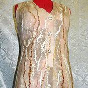 """Одежда ручной работы. Ярмарка Мастеров - ручная работа Жилет """" Берёзовый сок """". Handmade."""
