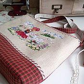 handmade. Livemaster - original item Textile handbag manual cross-stitch. Handmade.