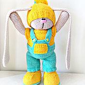 Куклы и игрушки ручной работы. Ярмарка Мастеров - ручная работа Солнечный зайчик.  Зайчик. Заяц. Вязаная игрушка. Большеножка.. Handmade.