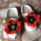 Обувь ручной работы. Ярмарка Мастеров - ручная работа Тапочки Маки. Handmade.