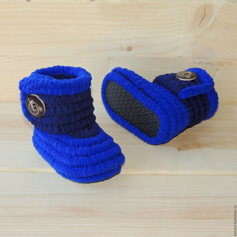 75e863c4 Вязаная обувь ручной работы пинетки сапожки плюшевые, вязаные сапожки для  девочки в наличии и на ...