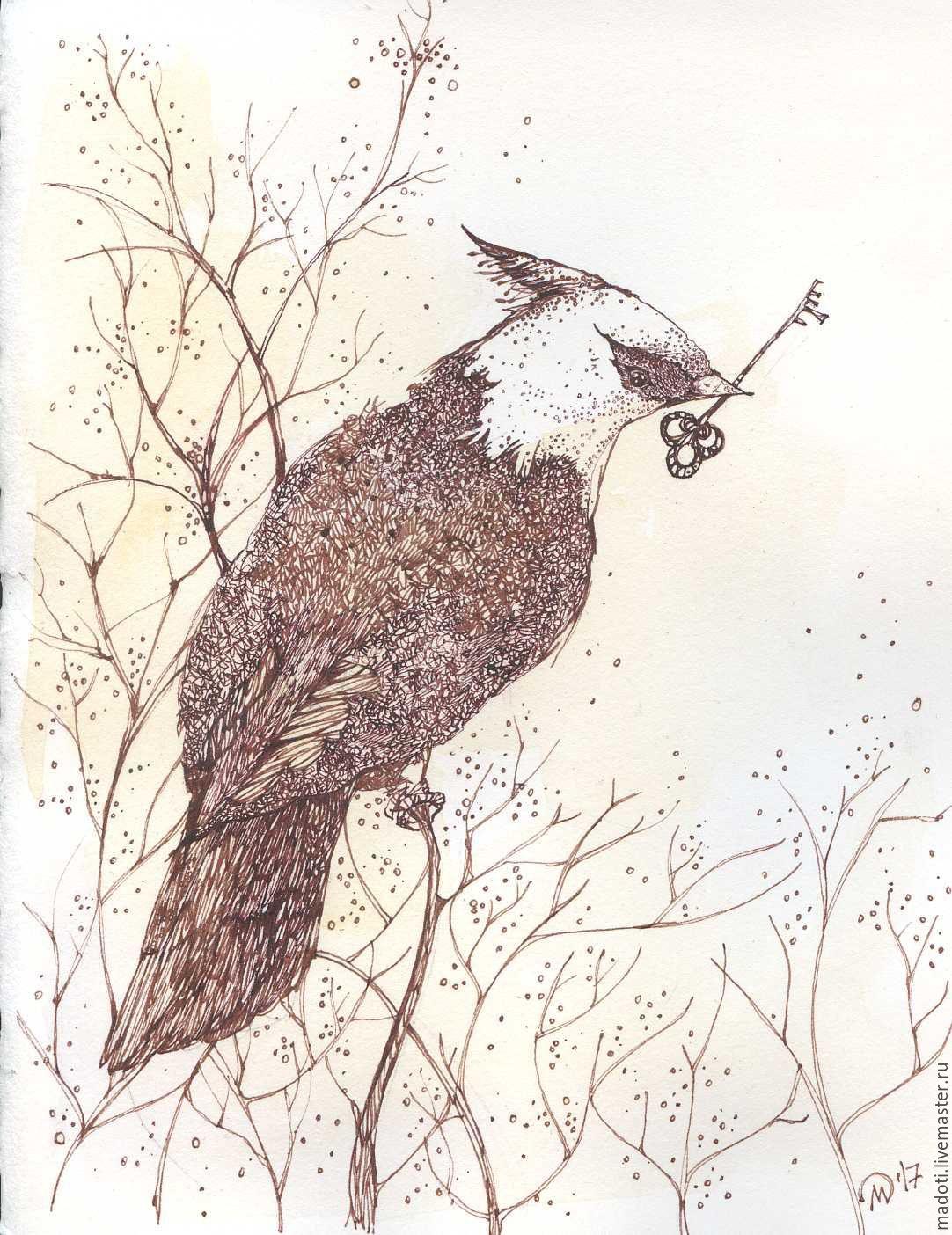 Animal Painting handmade. Livemaster - handmade. Buy the Keeper of Happiness.Gift, beige, mascara, mascara
