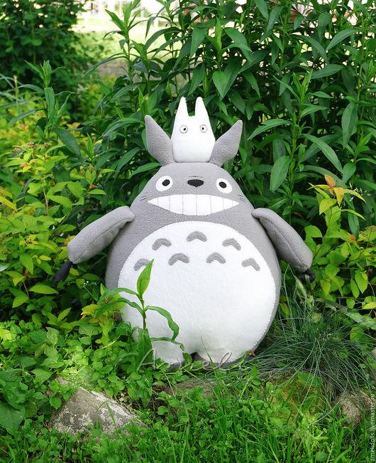 Сказочные персонажи ручной работы. Ярмарка Мастеров - ручная работа. Купить Большой Тоторо с сюрпризом - мягкая игрушка. Handmade. Серый
