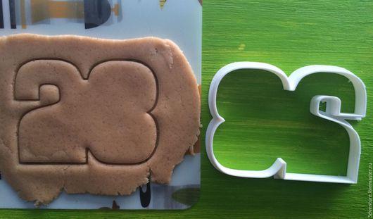 Кухня ручной работы. Ярмарка Мастеров - ручная работа. Купить Форма для печенья 23 февраля. Handmade. Разноцветный, формочка для печенья