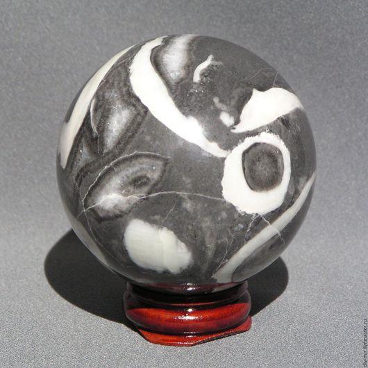 Статуэтки ручной работы. Ярмарка Мастеров - ручная работа. Купить Шар мрамор, 58 мм. Handmade. Серый, необычный подарок