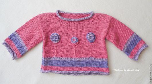 Одежда для девочек, ручной работы. Ярмарка Мастеров - ручная работа. Купить Вязаный свитер для девочки 9-12 мес.. Handmade.