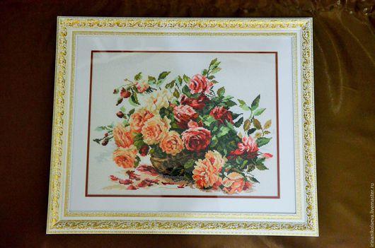 """Картины цветов ручной работы. Ярмарка Мастеров - ручная работа. Купить Картина """"Королевские розы"""" Картины Цветы. Handmade. Комбинированный"""