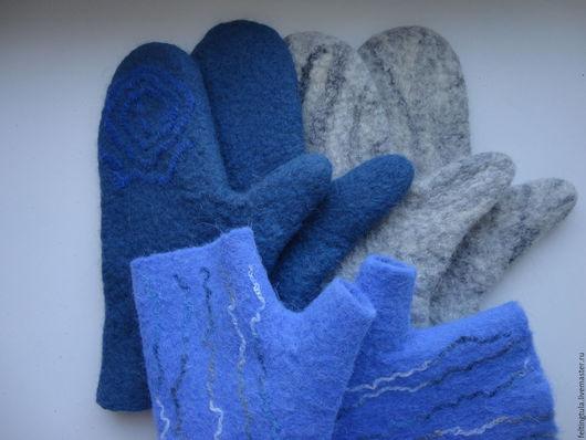 Варежки, митенки, перчатки ручной работы. Ярмарка Мастеров - ручная работа. Купить Варежки и митенки валяные в ассортименте. Handmade. Комбинированный