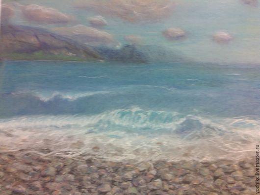 Пейзаж ручной работы. Ярмарка Мастеров - ручная работа. Купить Волшебный мир. Handmade. Море, берег, камни, граница, закат