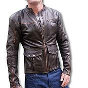 Outerwear Jackets handmade. Livemaster - original item Mans Leather Jacket. Handmade.