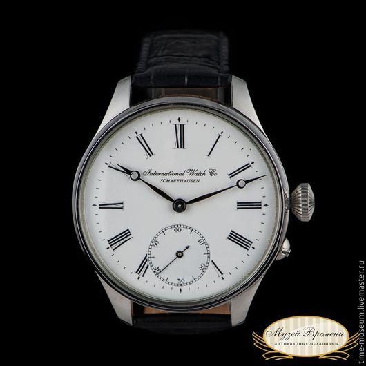 Часы ручной работы. Ярмарка Мастеров - ручная работа. Купить Оригинальные швейцарские часы IWC 1906 год выпуска. Handmade. Часы, для него