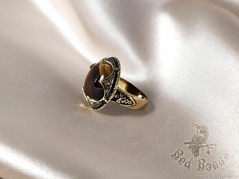 """Перстень """"Готланд"""" с тигровым глазом, Кольца, Севастополь,  Фото №1"""