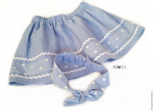 Одежда для девочек, ручной работы. Ярмарка Мастеров - ручная работа. Купить Комплект для девочки юбка и повязка на голову. Handmade.