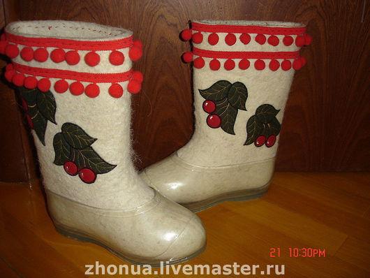 Обувь ручной работы. Ярмарка Мастеров - ручная работа. Купить ВаЛеНоЧкИ. Handmade. Валенки ручной валки, вышивка