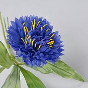 Украшения handmade. Livemaster - original item Fabric flowers cornflower - wild flower silk. Handmade.