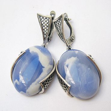 Decorations handmade. Livemaster - original item Silver earrings