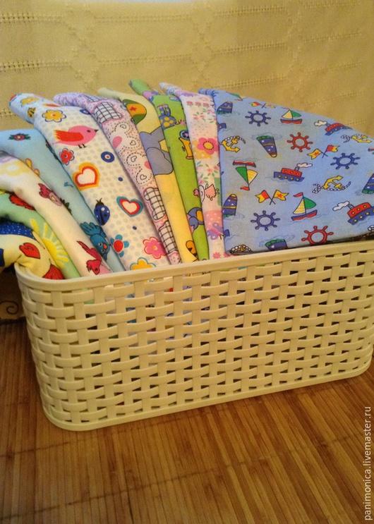 Для новорожденных, ручной работы. Ярмарка Мастеров - ручная работа. Купить Комплект пеленок  для новорожденных - 10 шт.. Handmade. Пеленка