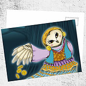 Открытки ручной работы. Ярмарка Мастеров - ручная работа Почтовая открытка «Джипси». Handmade.