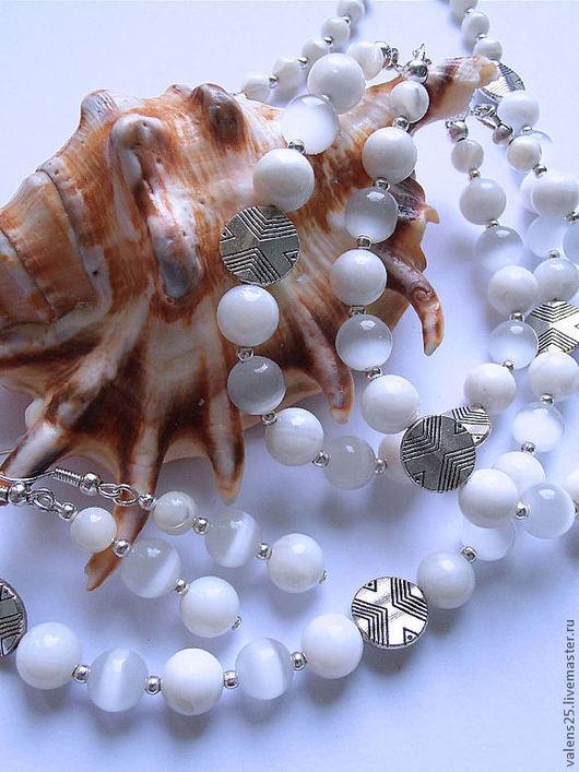 Комплекты украшений ручной работы. Ярмарка Мастеров - ручная работа. Купить Комплект «Морская пена». Handmade. Белый, море