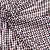 Ткани ручной работы. Ярмарка Мастеров - ручная работа Ткань натуральная хлопок рубашечный красный. Handmade.
