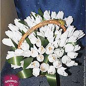 Подарки к праздникам ручной работы. Ярмарка Мастеров - ручная работа Сладкие белые тюльпаны. Handmade.
