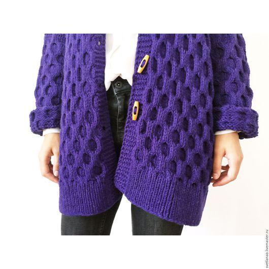 """Кофты и свитера ручной работы. Ярмарка Мастеров - ручная работа. Купить Кардиган """"Honeycomb / Соты"""". Handmade. Вязаный кардиган"""