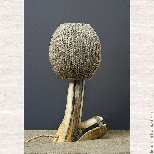 Освещение ручной работы. Ярмарка Мастеров - ручная работа. Купить Настольная лампа / ночник. Handmade. Бежевый, лампа из дерева
