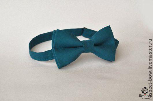 Галстуки, бабочки ручной работы. Ярмарка Мастеров - ручная работа. Купить Галстук бабочка Вдохновение / бабочка-галстук, очень темный бирюзовый. Handmade.