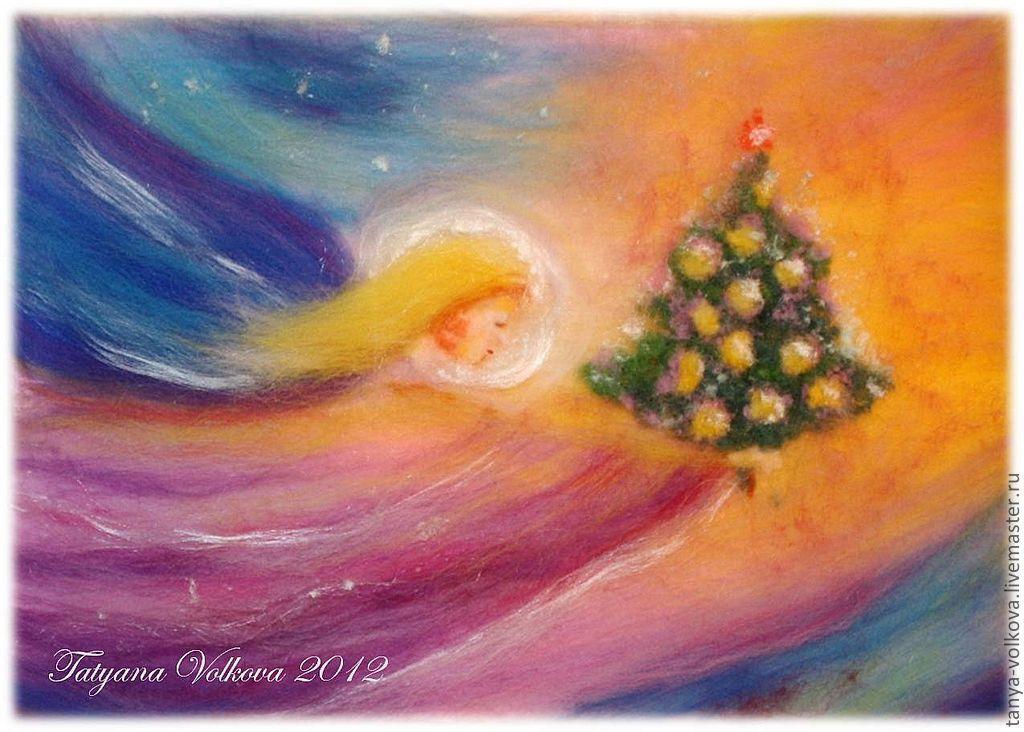 Вальдорфские открытки рождество, мишками