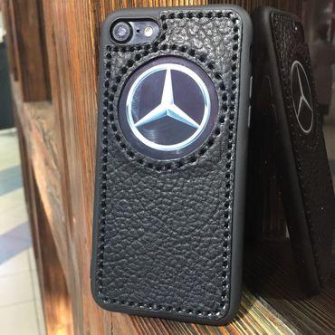Сумки и аксессуары ручной работы. Ярмарка Мастеров - ручная работа Кожаный чехол «Mercedes Benz» на мобильные телефоны. Handmade.