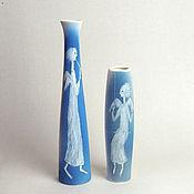 """Сувениры и подарки ручной работы. Ярмарка Мастеров - ручная работа """"Ангелы трубящие"""", две вазы. Handmade."""