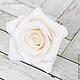 Заколки ручной работы. Шпильки с розами (большие) Белые. Tanya Flower. Интернет-магазин Ярмарка Мастеров. Украшение для невесты