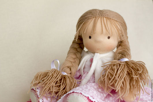 Вальдорфская игрушка ручной работы. Ярмарка Мастеров - ручная работа. Купить Игровая кукла Машенька,  31 см. Handmade.