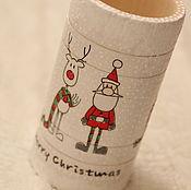 """Подарки к праздникам ручной работы. Ярмарка Мастеров - ручная работа Карандашница (стаканчик) """"Merry Christmas"""". Handmade."""