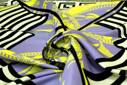 Шитье ручной работы. Ярмарка Мастеров - ручная работа. Купить Итальянский шелк  Versace. Handmade. Чёрно-белый, шелк натуральный