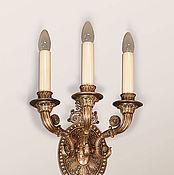 Для дома и интерьера ручной работы. Ярмарка Мастеров - ручная работа Бра трехрожковое (светильник настенный из бронзы). Handmade.