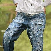 Одежда handmade. Livemaster - original item jeans boyfriend. Handmade.