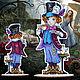 Декор: Вышивка крестом Алиса, заветный ключик серия. Кукольный театр. Любимый крестик. Ярмарка Мастеров.  Фото №5