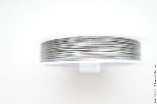 Для украшений ручной работы. Ярмарка Мастеров - ручная работа. Купить Ювелирный трос цвет серебро 0,45мм. Handmade.
