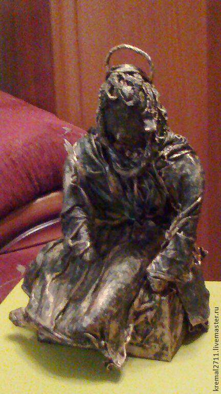 """Статуэтки ручной работы. Ярмарка Мастеров - ручная работа. Купить Скульптура из ткани """"Отдыхающий ангел""""(тонировка-бронза). Handmade. Скульптура из ткани"""