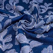 Материалы для творчества ручной работы. Ярмарка Мастеров - ручная работа Итальянская джинсовая ткань   KENZO  с аппликацией. Handmade.